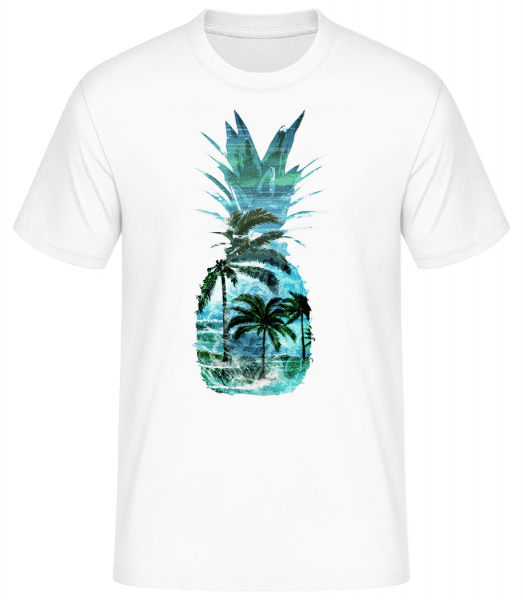 Pineapple Palms - Men's Basic T-Shirt - White - Front