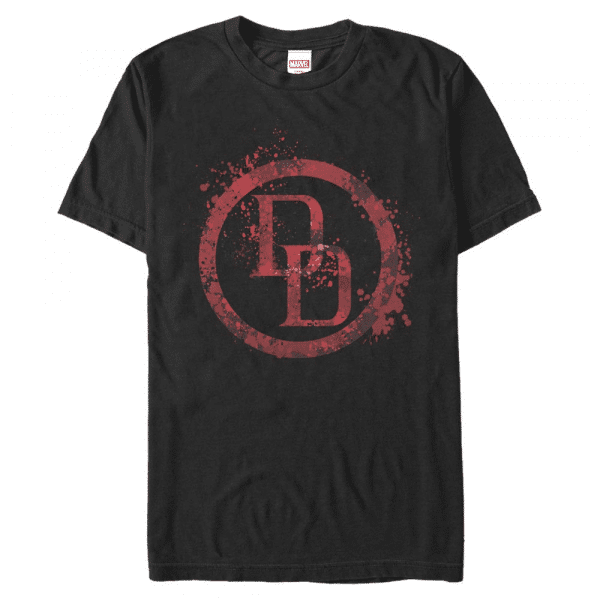 DD Splatter Icon Daredevil - Marvel Defenders - Men's T-Shirt - Black - Front