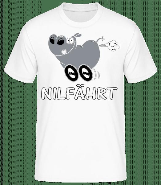 Nilfährt - Männer Basic T-Shirt - Weiß - Vorn