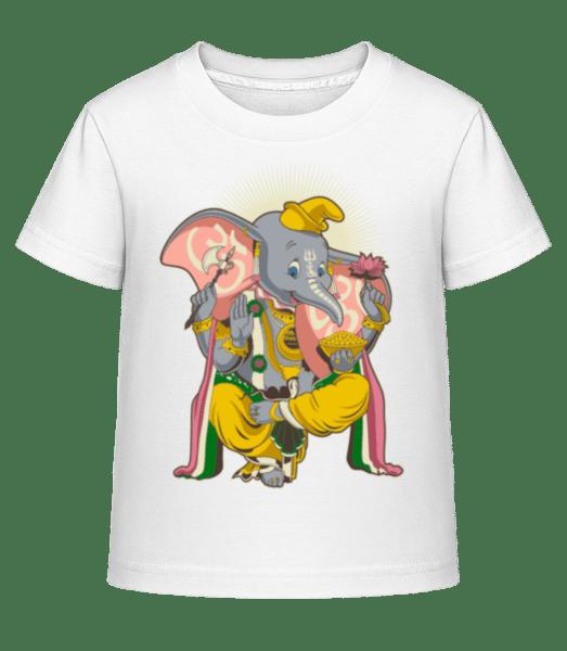 Little Ganesh - Kid's Shirtinator T-Shirt - White - Vorn