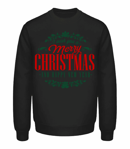 Merry Christmas Label - Unisex Sweatshirt - Black - Vorn