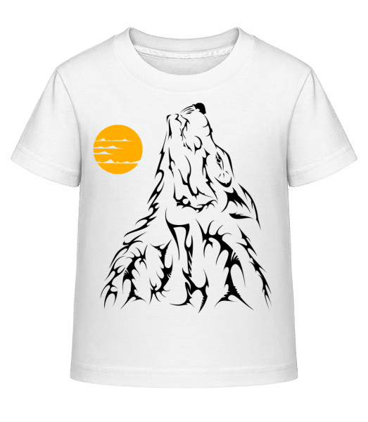 Gothic Wolves Black - Kid's Shirtinator T-Shirt - White - Vorn