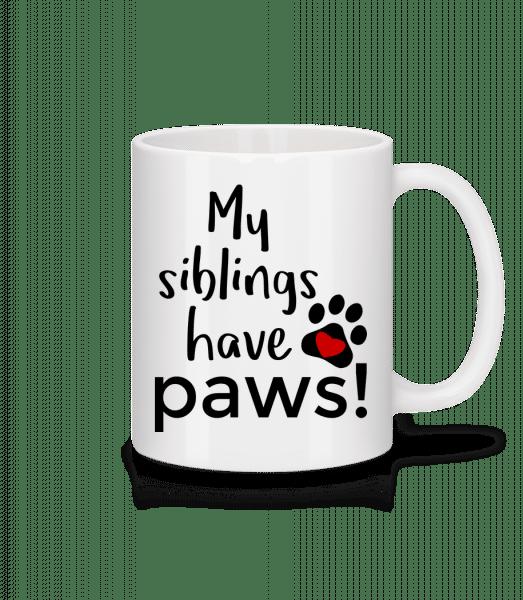 My Siblings Have Paws - Tasse - Weiß - Vorn