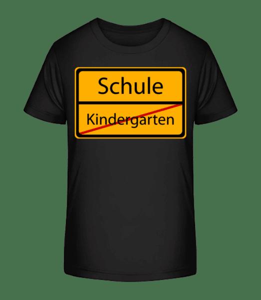 Schule Kindergarten Vorbei - Kinder Premium Bio T-Shirt - Schwarz - Vorn