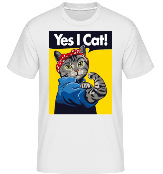 Yes I Cat -  Shirtinator Men's T-Shirt - White - Front