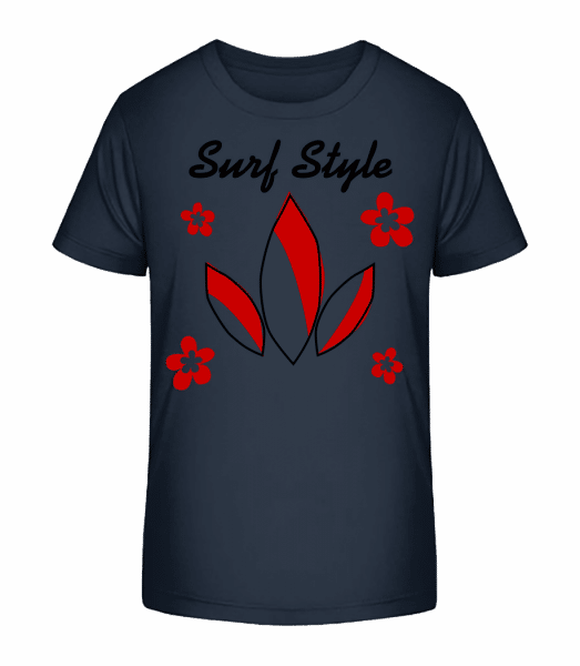 Surf Style - Kid's Premium Bio T-Shirt - Navy - Front