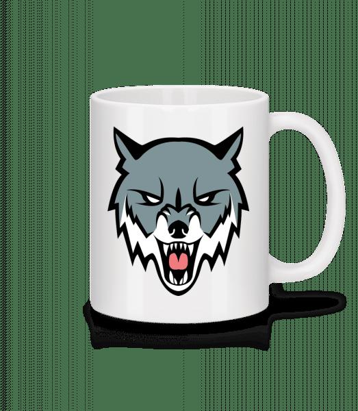 Angry Wolf - Mug - White - Vorn