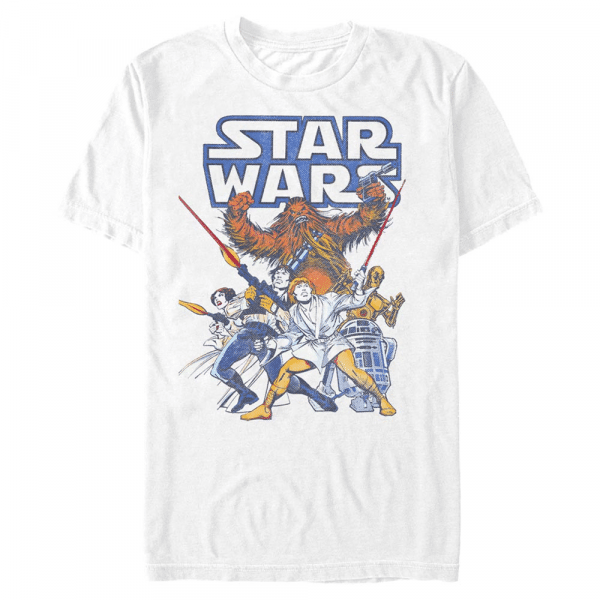 Heroic Crew Group Shot - Star Wars - Men's T-Shirt - White - Front