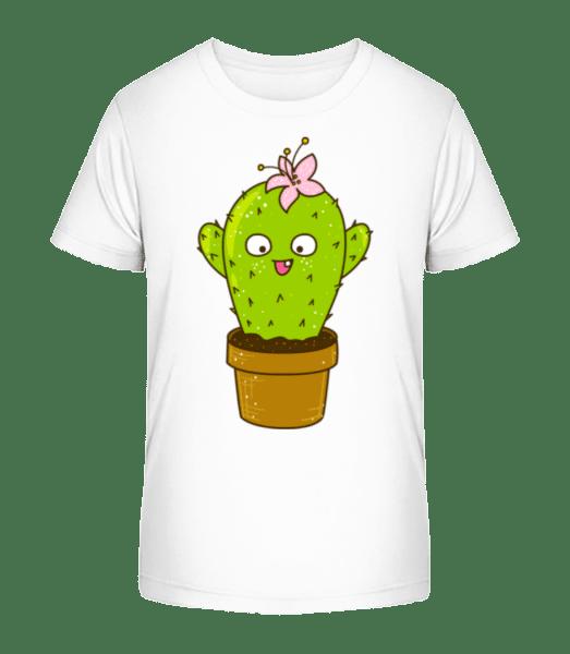 Funny Cactus - Kid's Premium Bio T-Shirt - White - Vorn