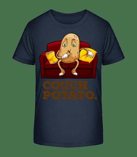 Couch Potato - Kid's Premium Bio T-Shirt - Navy - Vorn