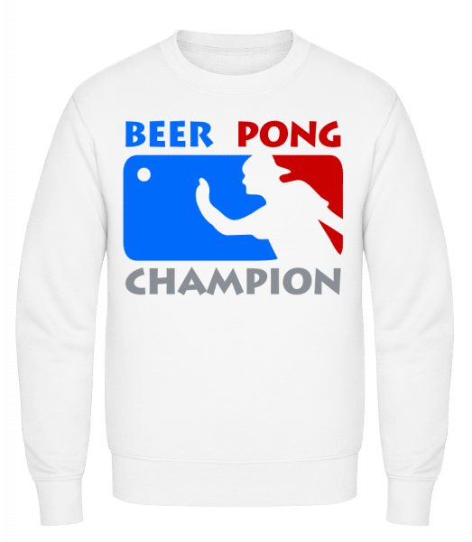 Beer Pong Champion - Classic Set-In Sweatshirt - White - Vorn