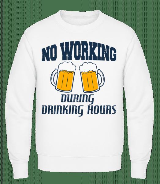No Working But Drinking - Männer Pullover - Weiß - Vorn
