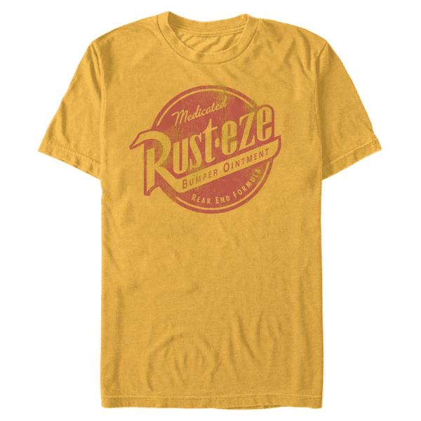 Rusteze Logo Rust-Eze - Pixar Cars 3 - Men's T-Shirt - Yellow - Front