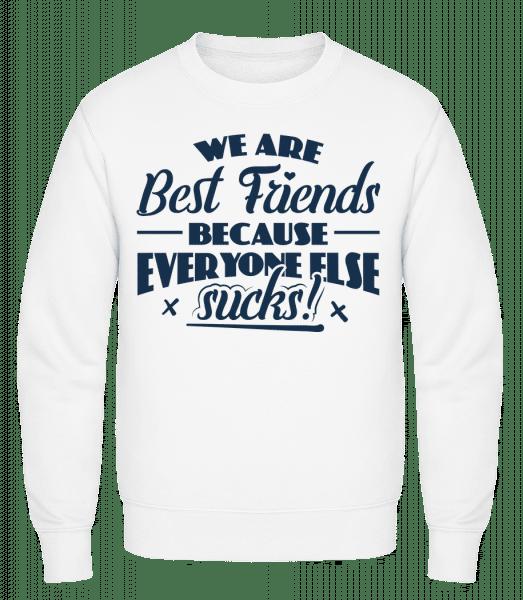 We Are Best Friends - Classic Set-In Sweatshirt - White - Vorn