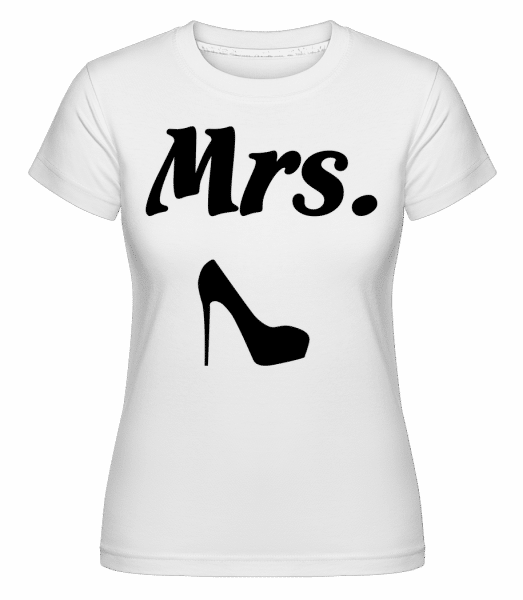 Mrs. Wedding -  T-shirt Shirtinator femme - Blanc - Devant