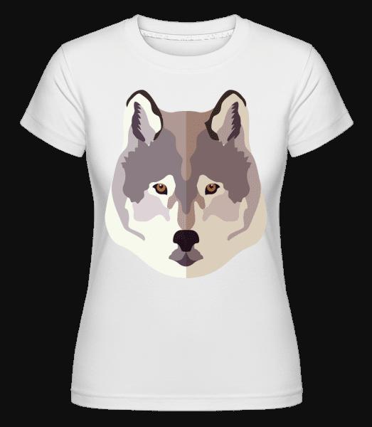 Wolf Comic Shadow -  Shirtinator Women's T-Shirt - White - Vorn