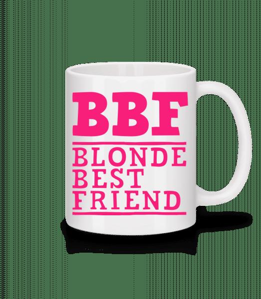 bff Blonde Best Friend - Tasse - Weiß - Vorn