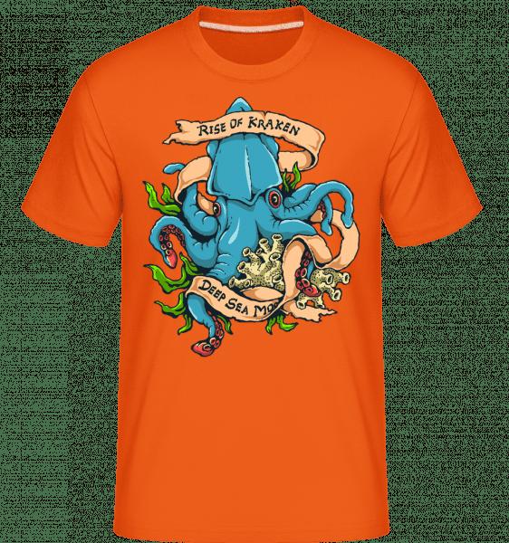Rise Of Kraken -  Shirtinator Men's T-Shirt - Orange - Vorn