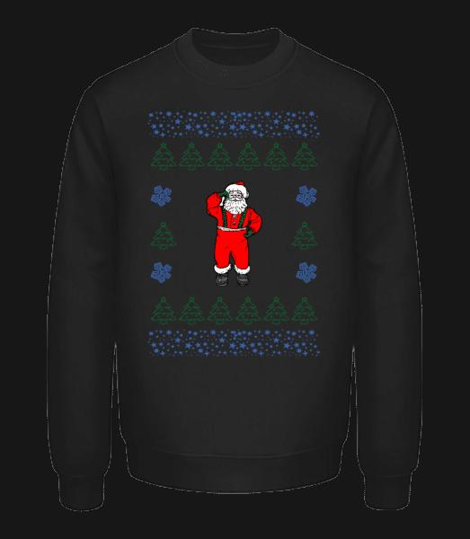 Santa Knitting Pattern - Unisex Sweatshirt - Black - Vorn
