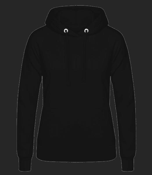 Dámská mikina s kapucí - Černá - Napřed