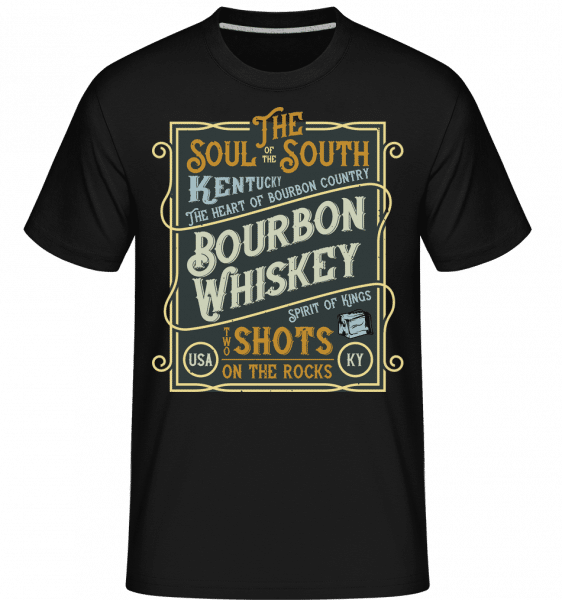 Bourbon Whiskey -  Shirtinator Men's T-Shirt - Black - Front