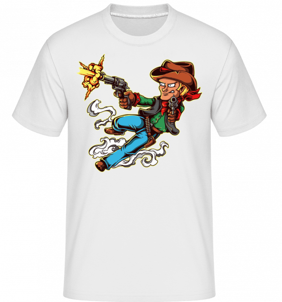 Gun Slinger -  Shirtinator tričko pre pánov - Biela - Predné