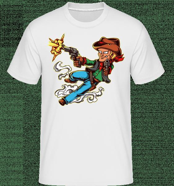 Gun Slinger -  T-Shirt Shirtinator homme - Blanc - Devant