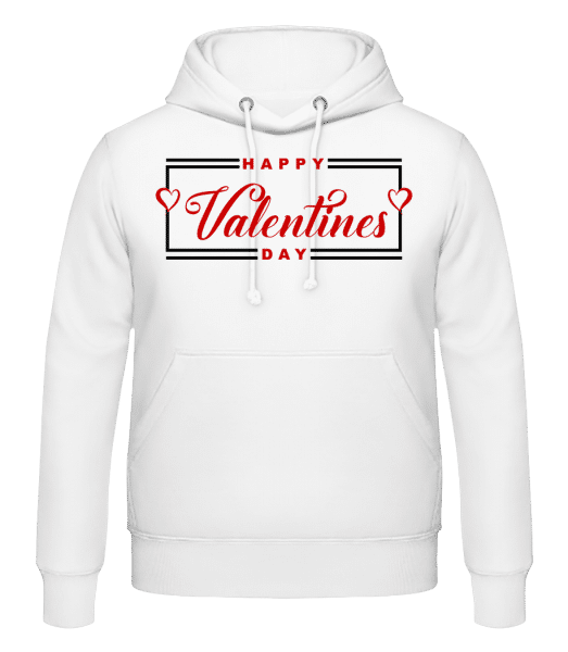 Happy Valentines Day - Men's Hoodie - White - Front