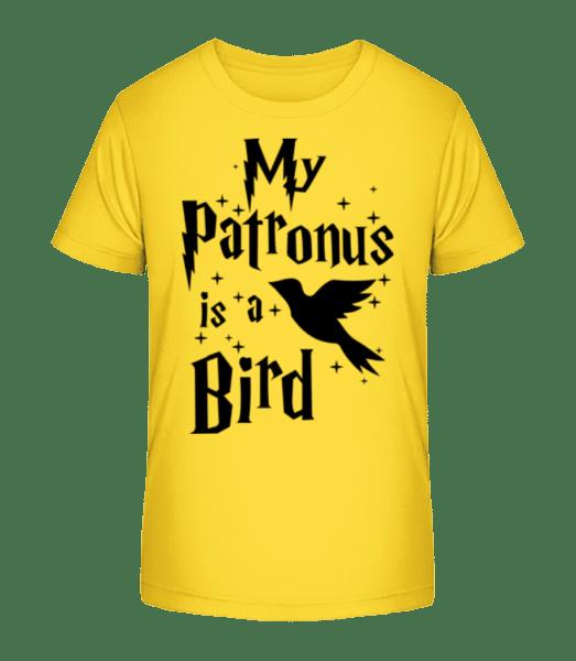 My Patronus Is A Bird - T-shirt bio Premium Enfant - Jaune - Vorn
