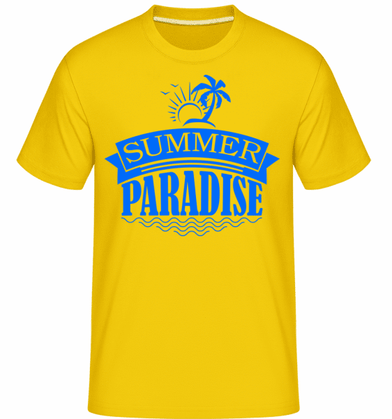 Summer Paradise Blue -  Shirtinator Men's T-Shirt - Golden yellow - Vorn