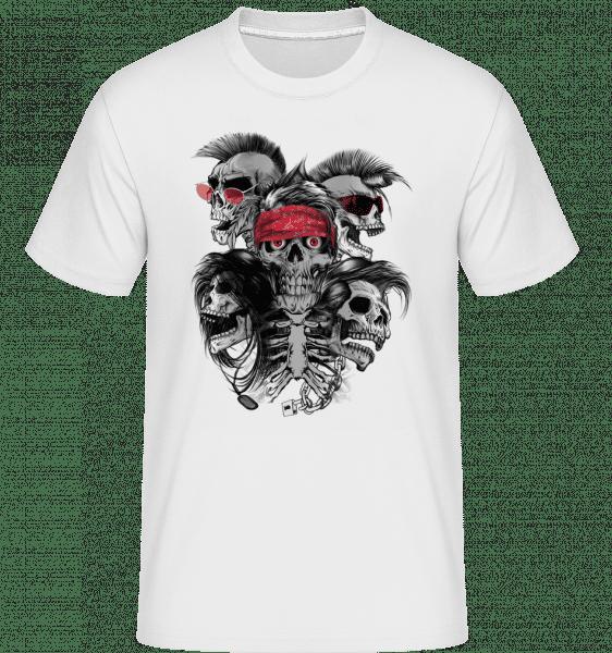 blázen Skulls -  Shirtinator tričko pro pány - Bílá - Napřed