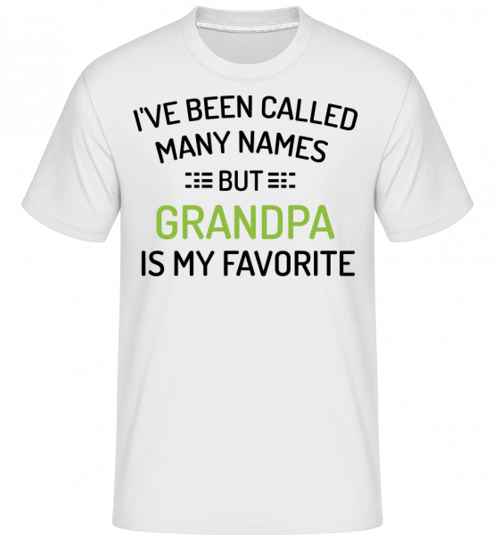Favourite Name Is Grandpa -  Shirtinator Men's T-Shirt - White - Vorn