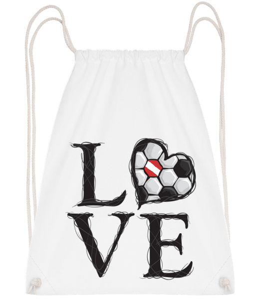 Football Love Austria - Drawstring Backpack - White - Vorn