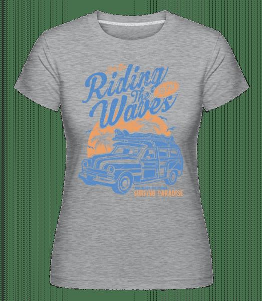 Riding The Waves -  Shirtinator Women's T-Shirt - Heather grey - Vorn