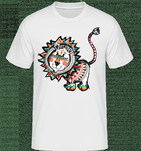 Indian Lion -  Shirtinator Men's T-Shirt - White - Vorn