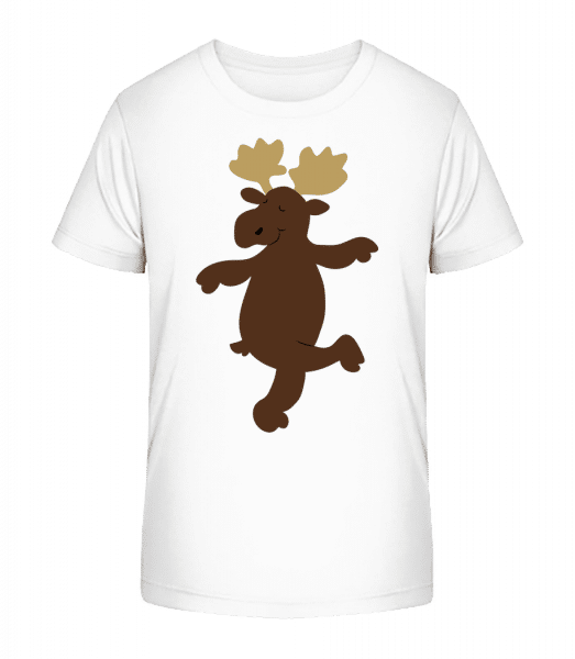 Deti Comic - Reindeer - Detské Premium Bio tričko - Biela - Predné