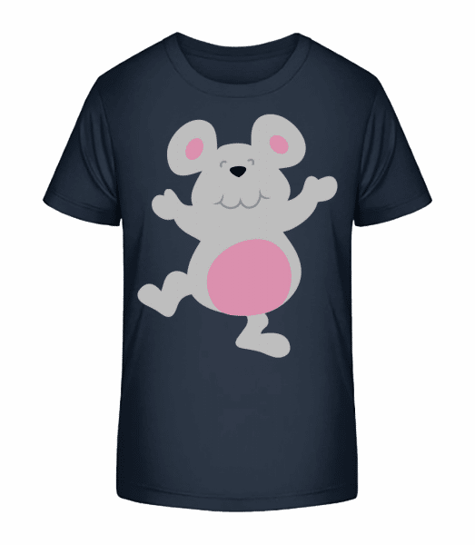 Kids Comic - Mouse - Kid's Premium Bio T-Shirt - Navy - Front
