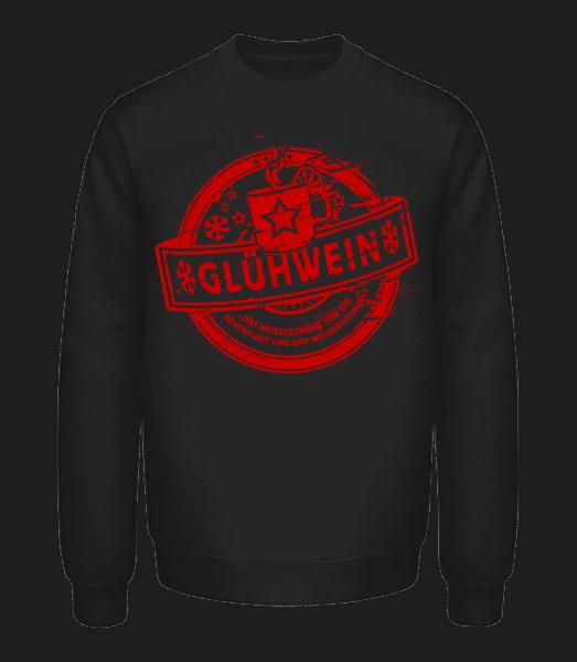 Glühwein Logo - Unisex Pullover - Schwarz - Vorn