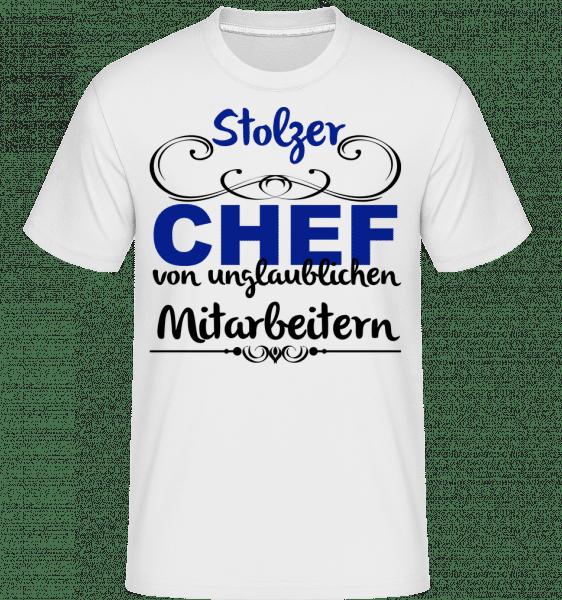 Stolzer Chef - Shirtinator Männer T-Shirt - Weiß - Vorn