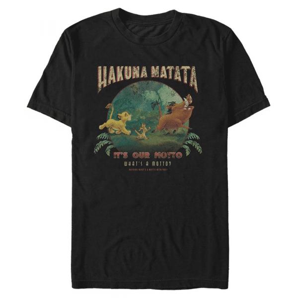 Tommy Matata Group Shot - Disney The Lion King - Men's T-Shirt - Black - Front