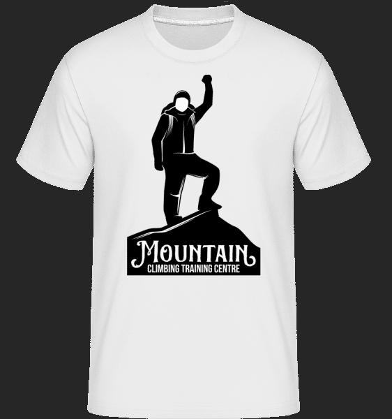 Climbing Mountain -  Shirtinator Men's T-Shirt - White - Vorn