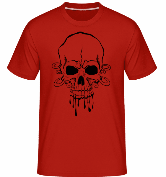 Skull With Wrist Tattoo -  Shirtinator Men's T-Shirt - Red - Vorn