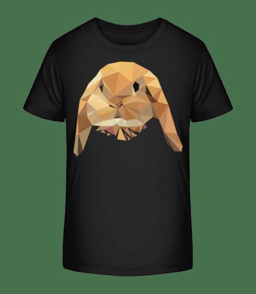 Polygon Rabbit - Kid's Premium Bio T-Shirt - Black - Vorn