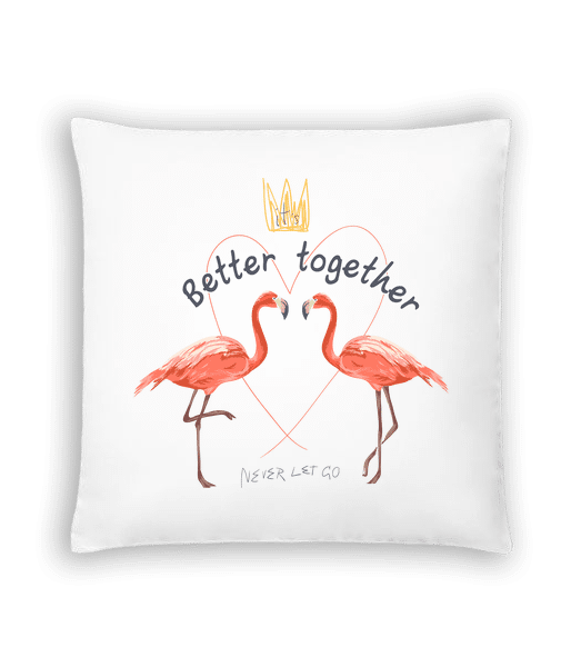 Better Together Flamingos - Cushion - White - Vorn