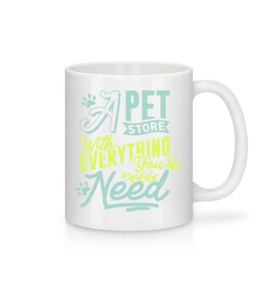 A Pet Store With Everything You Need - Mug - White - Front