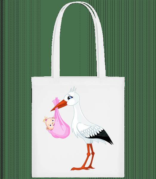 Stork Brings Baby - Carrier Bag - White - Vorn