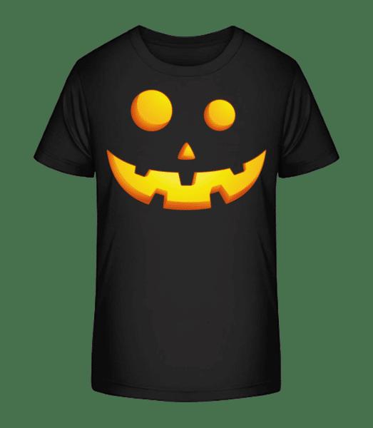 Laughing Pumpkin Face - Kid's Premium Bio T-Shirt - Black - Vorn