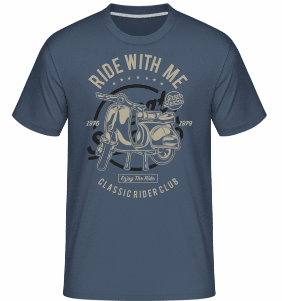 Ride With Me -  Shirtinator Men's T-Shirt - Denim - Vorn