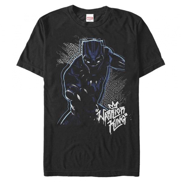 Warrior Prince - Marvel Black Panther - Men's T-Shirt - Black - Front
