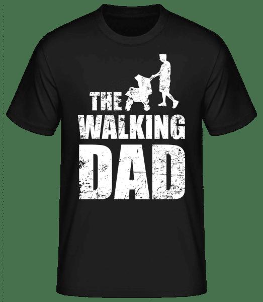 The Walking Dad - Männer Basic T-Shirt - Schwarz - Vorn